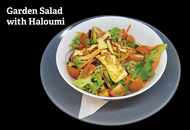 Garden Salad with Haloumi