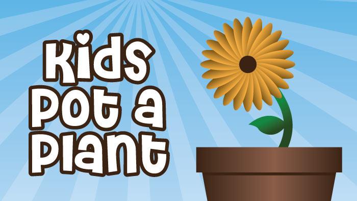 Kids Pot a Plant
